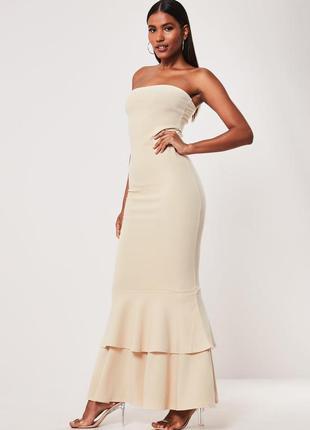 Шикарное макси платье бюстье
