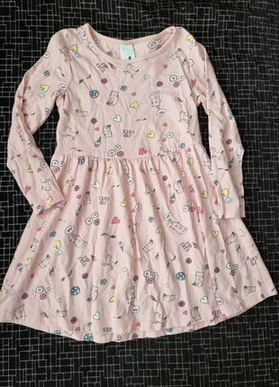 Платье с длинным рукавом фирмы palomino на девочку 4-5 лет 110 см.