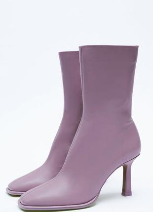 Ботинки на каблуке zara