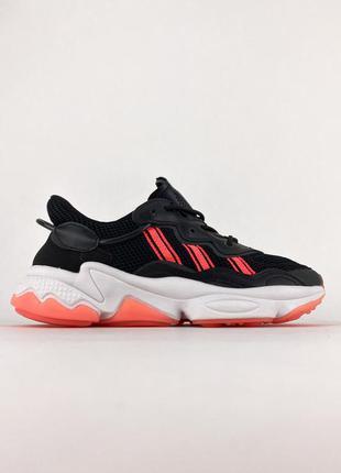 Кроссовки adidas ozweego black red