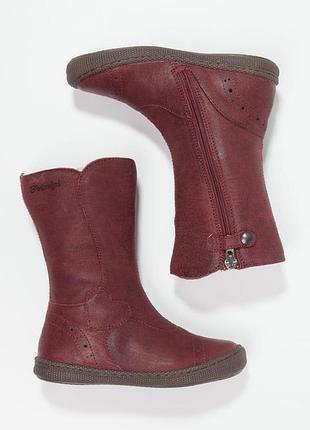 Кожаные сапоги primigi britte натуральная шерсть, размер 30