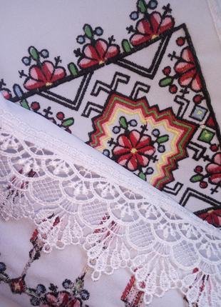 Рушник свадебный вышитый молодожёнам или на иконы