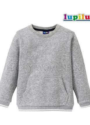 Теплый свитшот 4-6 л джемпер реглан кофта свитер начес флис світшот теплий