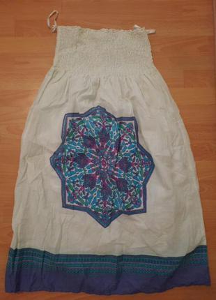 Платье сарафан без бретелей