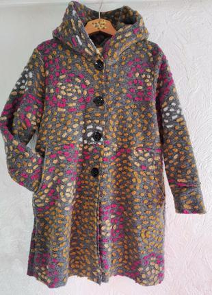 Шикарное пальто из валяной шерсти италия