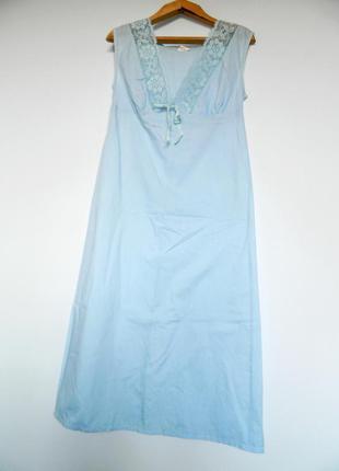 Шикарная ночная сорочка вмнтаж ночнушка ночное платье пеньюар хб хлопок
