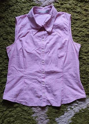 Хлопковая рубашка без рукавов more&more