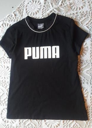 Ретро винтаж чёрная футболка puma унисекс