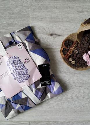 Домашний теплый байковый халат платье-рубашка esmara