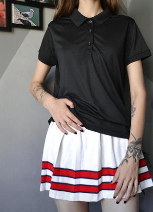 Чёрная футболка-поло crivit