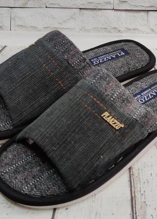 Мужские тапки тапочки комнатные для дома 40-45р plaazzo черный