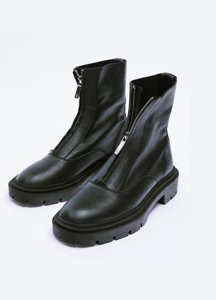 Кожаные ботинки ботильоны сапоги от zara оригинал новые 2021