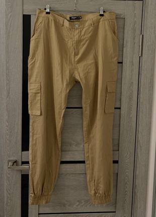 Штаны карго missguided с высокой посадкой большого размера