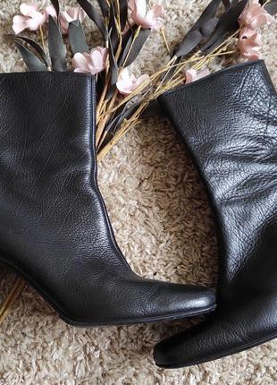 Полусапожки на осень ботильоны от bally черные натуральная кожа
