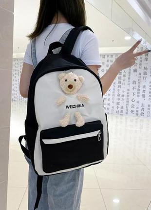Женский рюкзак с мишкой 1227 black