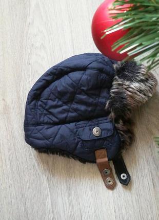 Тёплая шапка-ушанка next