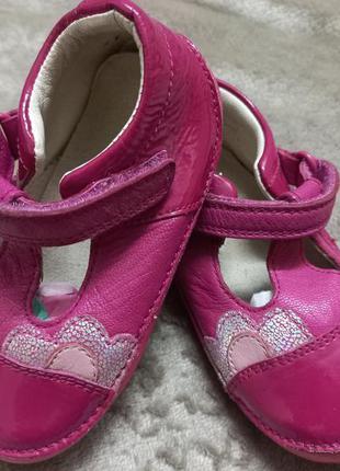 Туфли кожаные дев.21р.clarks вьетнам