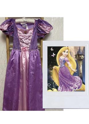 Карнавальное платье принцесса рапунцель на 9-10 лет