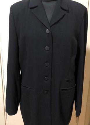 Тёмно-синий пиджак в рубчик kappahi