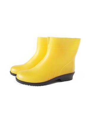 Резиновые сапоги женские желтые резинові чоботи гумові 36-41