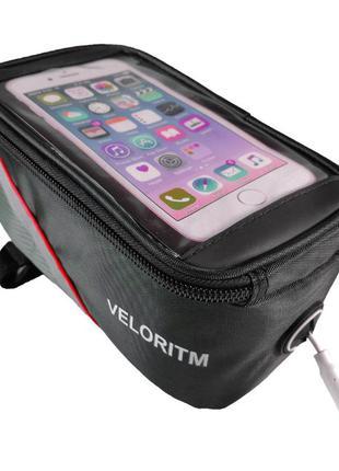 Велосумка сумка на раму велосипеда с отделением под смартфон