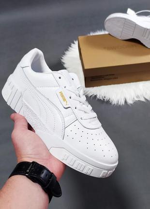 Женские кроссовки puma cali white leather