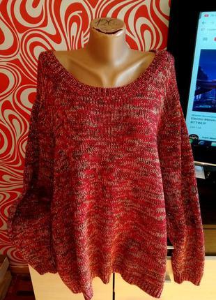 Батальный свитер, джемпер,с люрексом, стильный