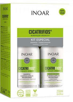 """Набор inoar """"идеальный цвет"""" kit duo cicatrifios"""