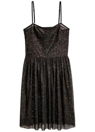 Плаття корсет h&m divided тюля фатин платье прозрачное