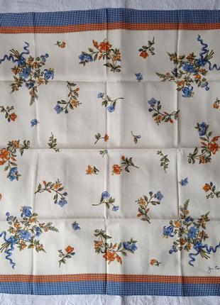 Подписной шелковый платок jim thompson , винтаж, 100% шелк 82*83 см