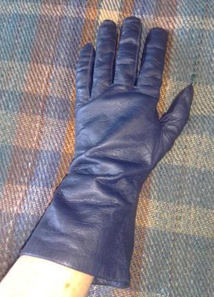 Кожаные мягкие перчаточки reusch синего цвета