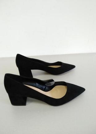 Туфли черные замш на каблуке manro zara next atmosphere amisu new look manro