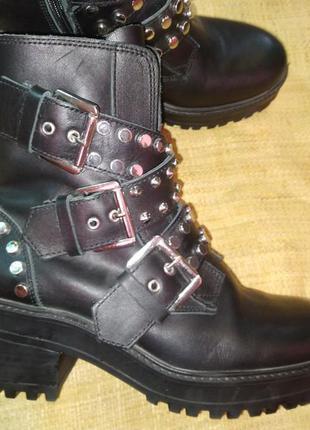 37р-24.5 кожа ботинки zara