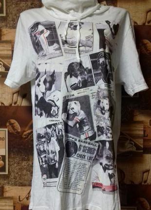 Длинная футболка с воротом denim 73,p.l/50,турция,100%хлопок