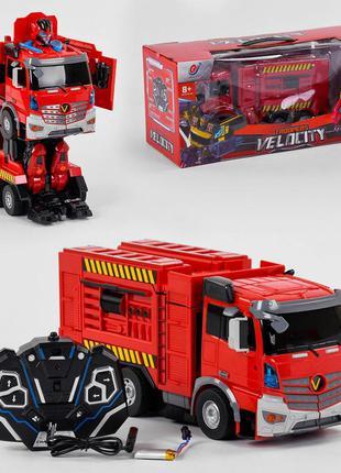 Робот трансформер пожарная машина на радиоуправлении 6608