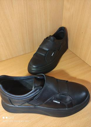 Кожаные туфли/кроссовки, р.37