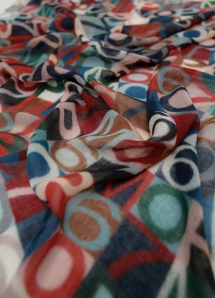 Большой шерстяной платок шарф marc o polo
