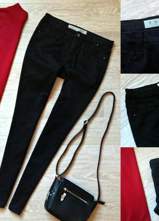 #55 черные джинсы скинни denim co
