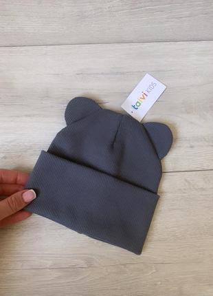 Шапочка🥰🥰🥰 шапка в рубчик от 6 мес до 5 лет размеры
