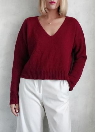 Базовый укороченный свитер джемпер реглан