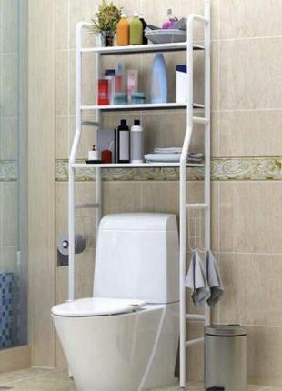 Полка   стеллаж над унитазом   для ванной   металическая   152/48/23   акция