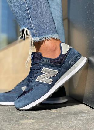 Хит продаж женские кроссовки new balance 574 наложка