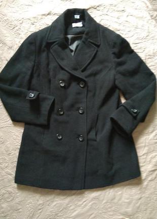Шерстяное пальто бойфрендз, двубортное blue motion