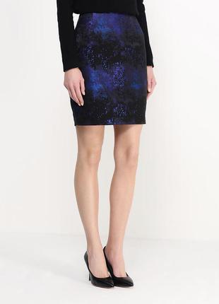 Необычная фактурная юбка карандаш маленький размер