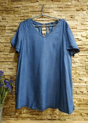 Свободная джинсовая блуза / лиоцел