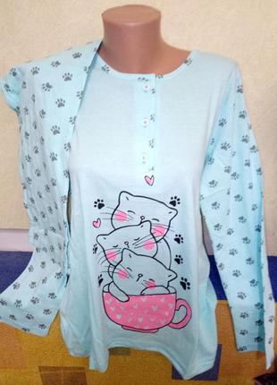 Пижама женская реглан + штаны, узбекистан