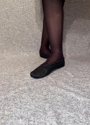 Чёрные балетки