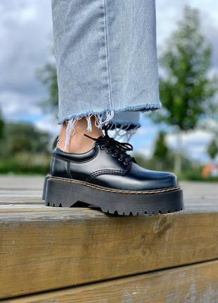 Хит продаж женские туфли dr. martens 8053 platform black polished smooth наложка