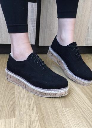 Женские броги туфли на платформе