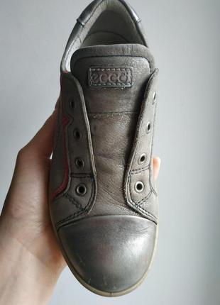 Ecco ботинки кеды кроссовки срібні кеди екко